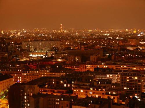 Vue OUEST du 26ème étage - Nuit de décembre 2018